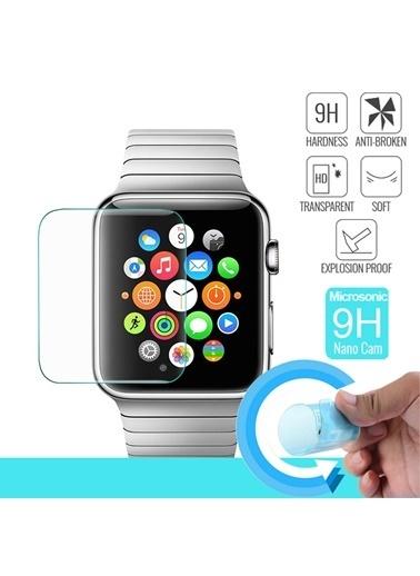 Microsonic Apple Watch Series 3 42mm Nano Cam Ekran koruyucu Kırılmaz film Renksiz